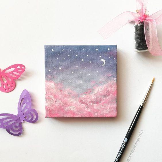 Easy Canvas Painting Idea