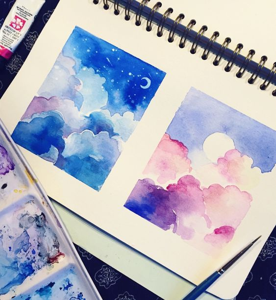 Easy Watercolor Art Painting