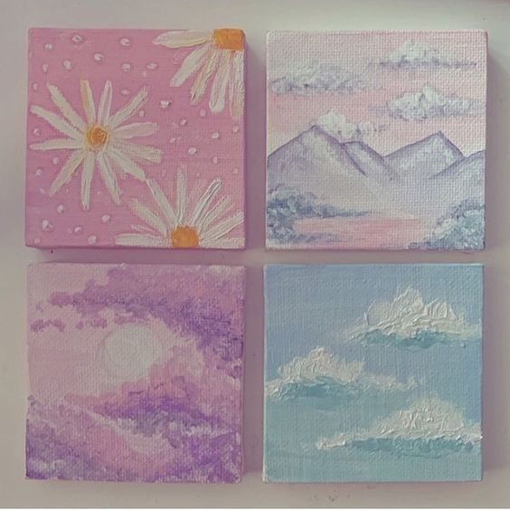 easy canvas painting ideas