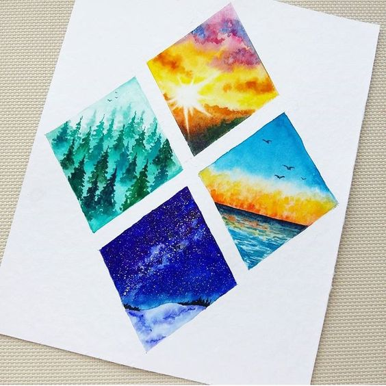 Easy Simple Watercolor Art Ideas