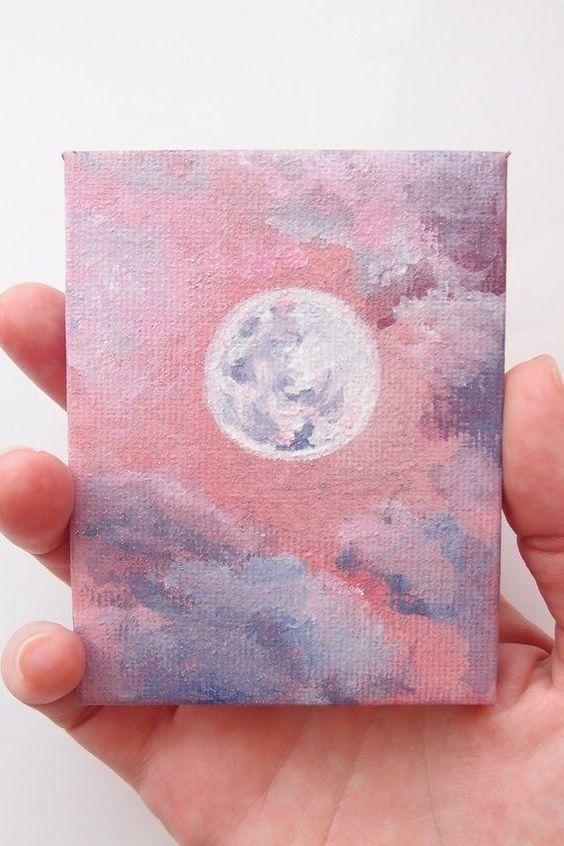 Easy DIY Mini Canvas Painting