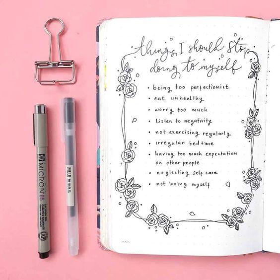 Bullet Journal Motivational Self Care