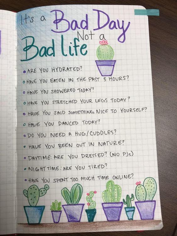 Easy Bullet Journal Self Care Idea