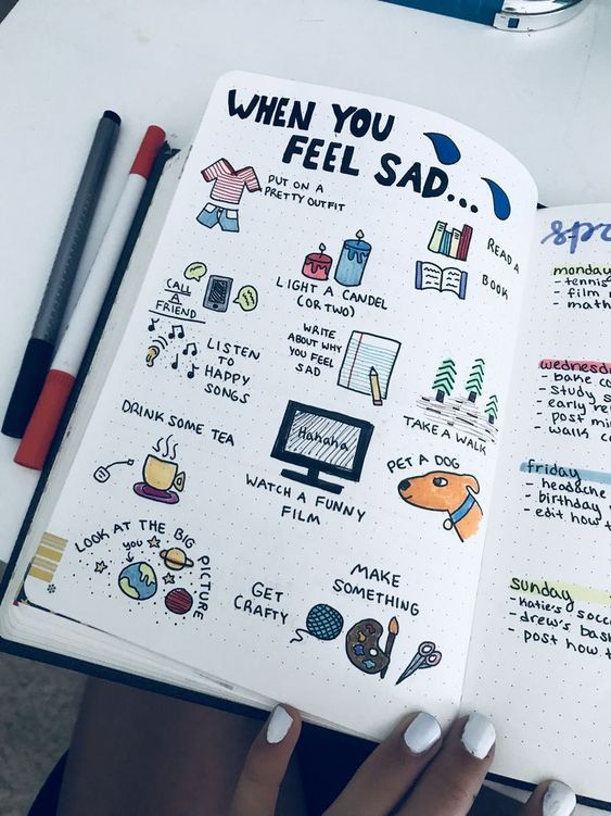 Easy Drawing Bullet Journal Self Care