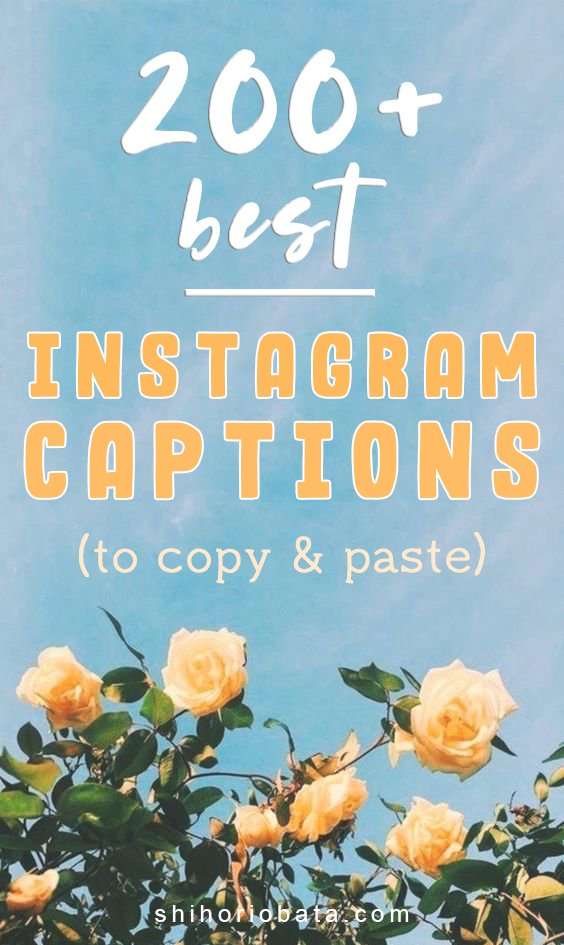 Best short instagram captions to copy and paste