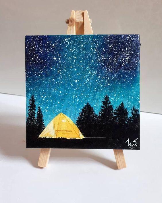 acrylic painting idea on canvas