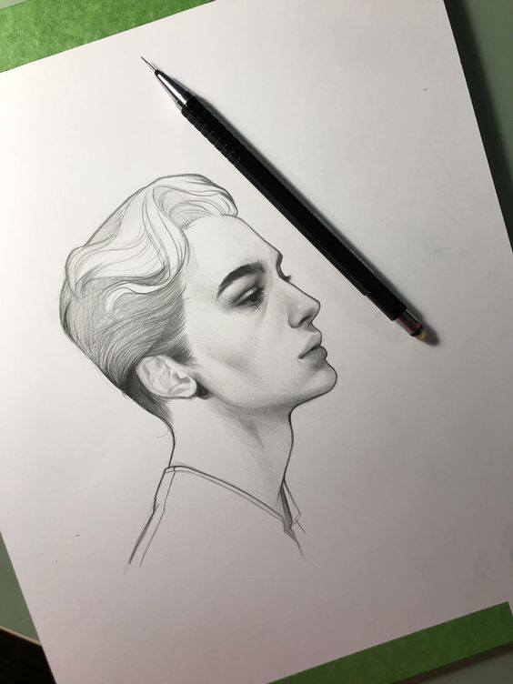 pencil drawing of face