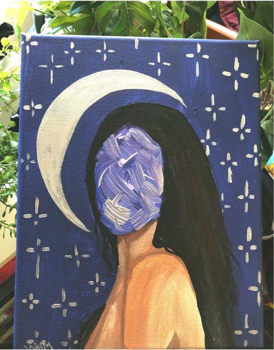 easy acrylic painting idea on canvas