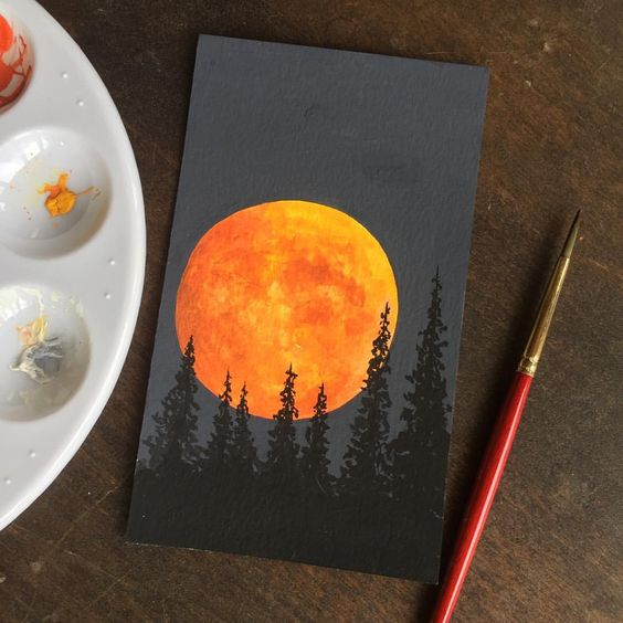easy acrylic canvas painting idea