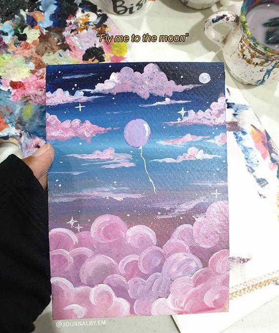 acrylic canvas painting idea for beginners