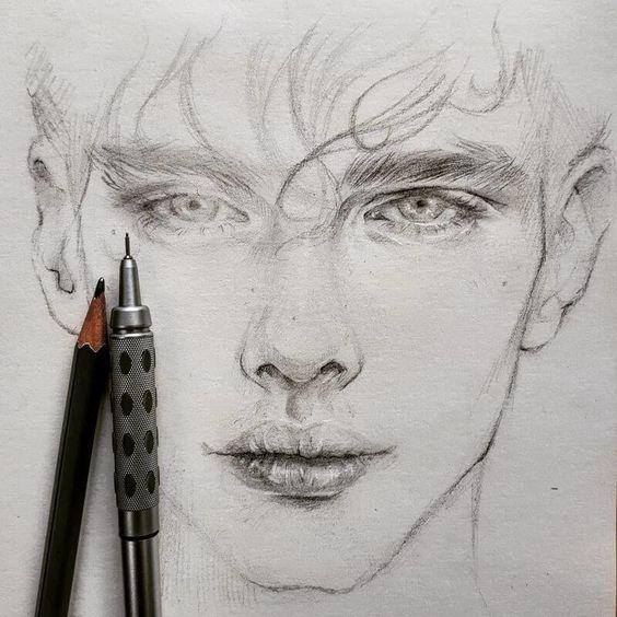 pencil sketch face