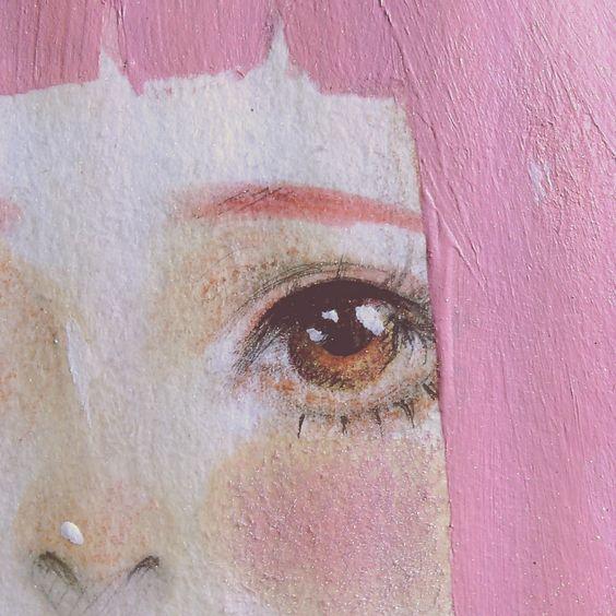 acrylic painting idea eyes