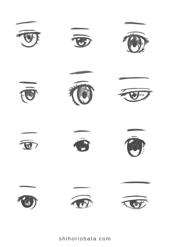 anime eye drawing ideas