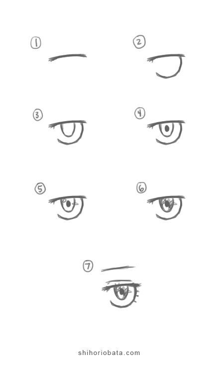 how to draw female anime eye