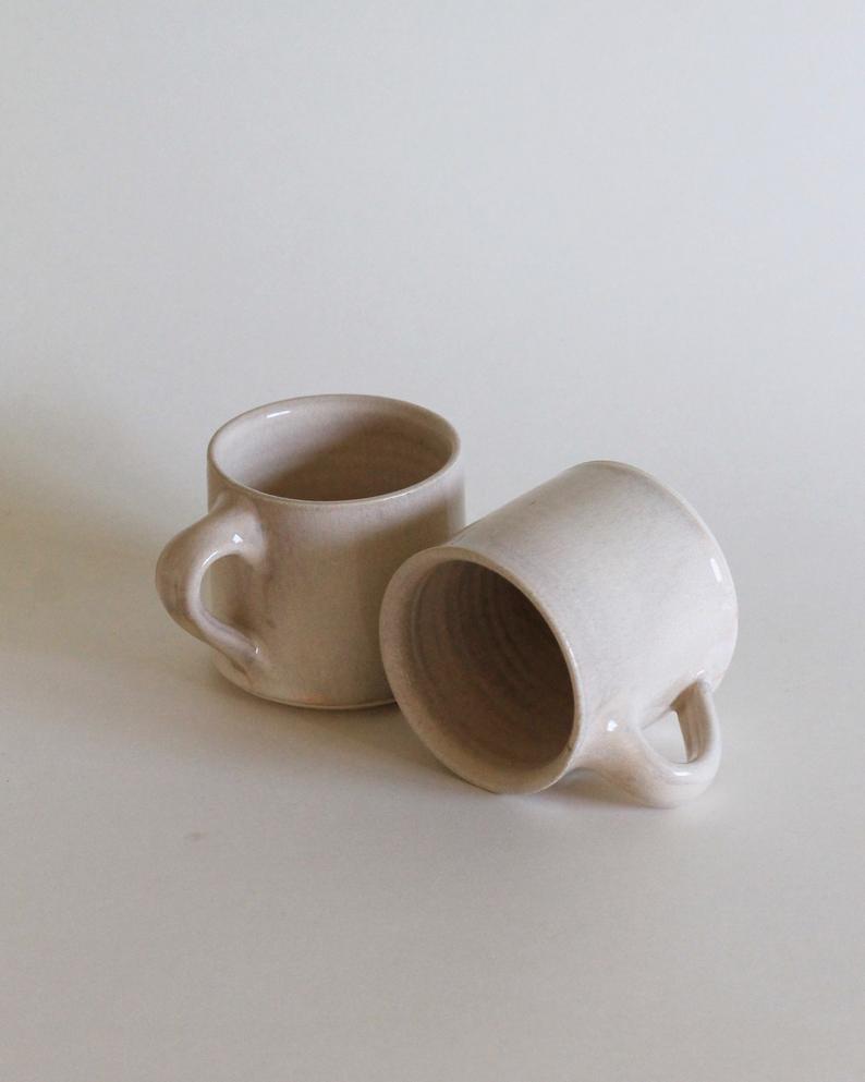 minimalist handmade ceramic mugs