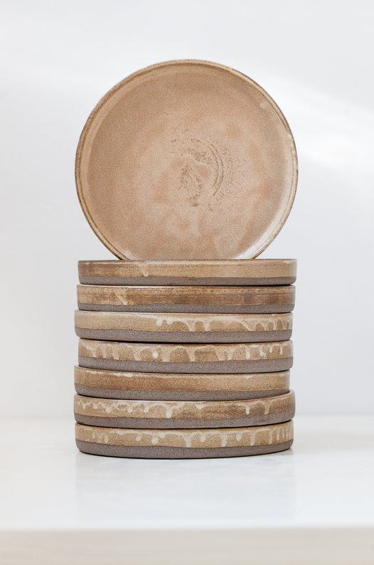 brown ceramic plate