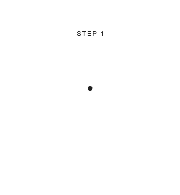How to draw a butterfly step 1
