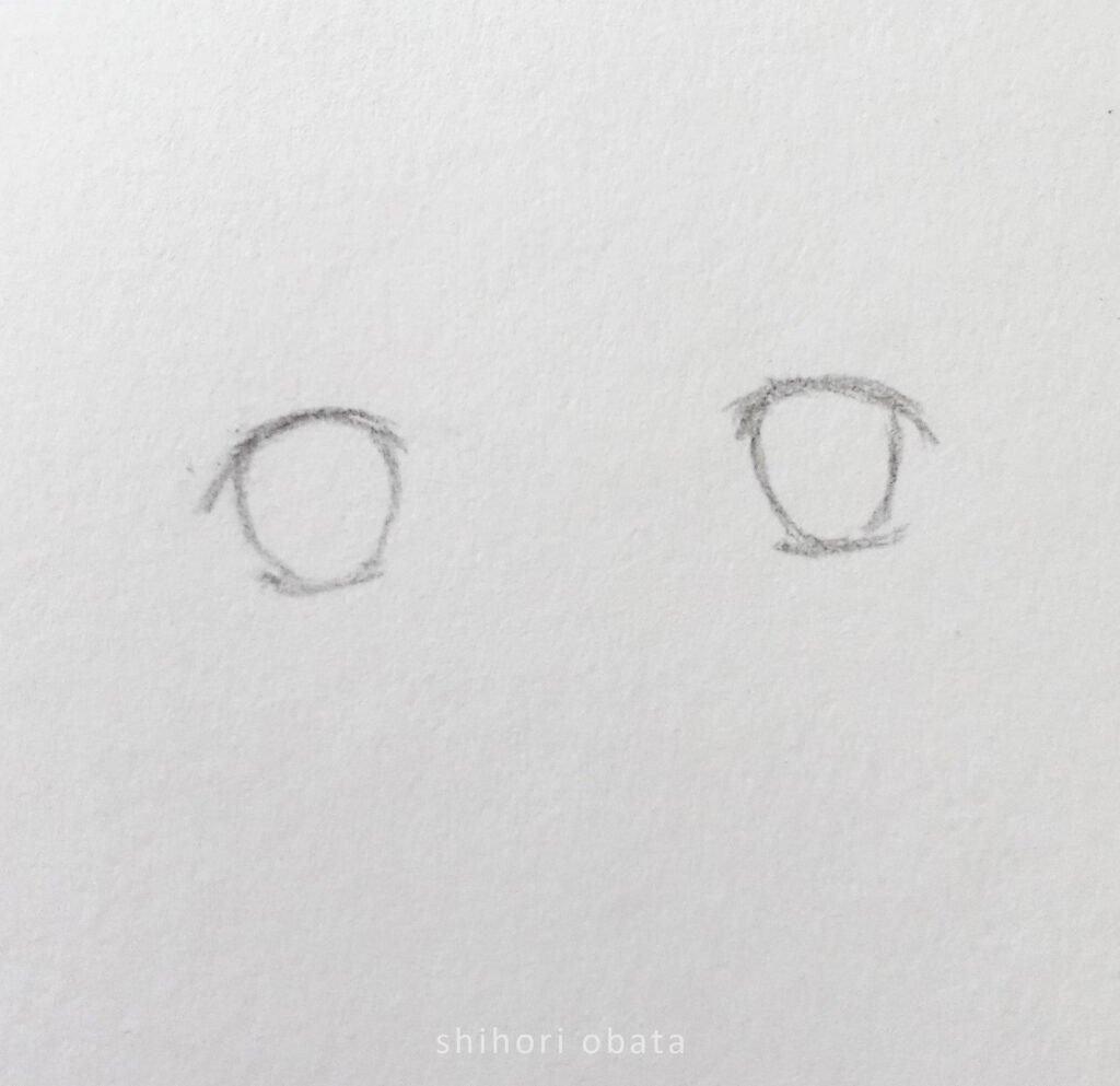 step 3 anime eye drawing