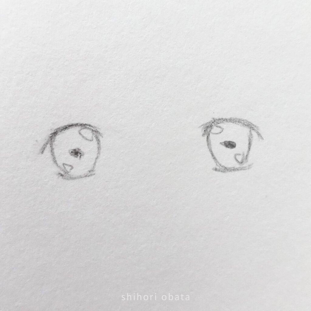 anime eye drawing step by step