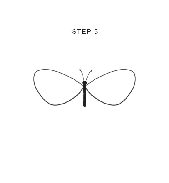 easy butterfly drawing