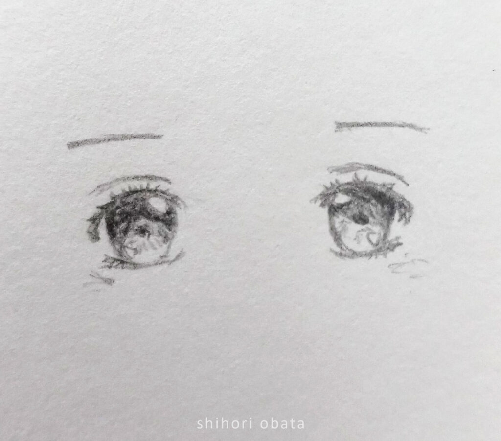 how to draw anime eyes easy