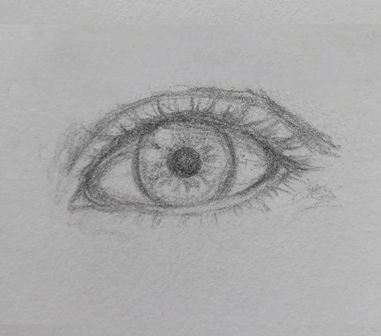 easy eye drawing