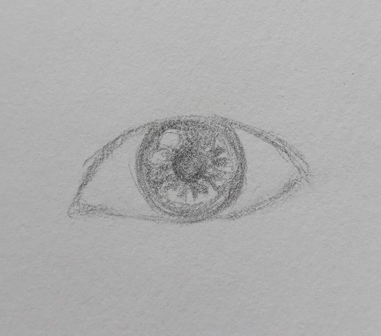 eye drawing easy