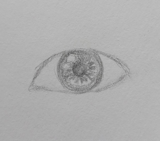 eye drawing easy