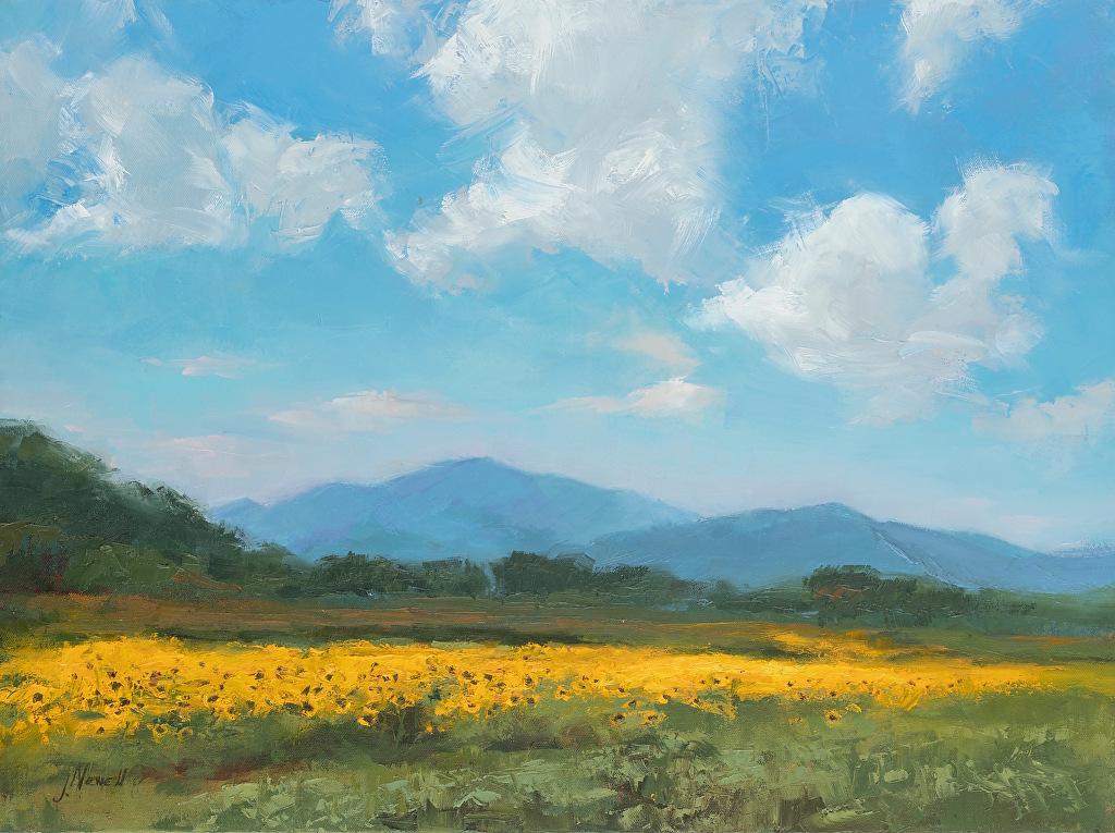sunflower oil painting jacki newell