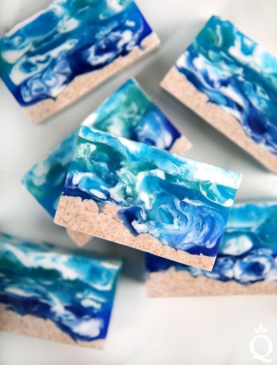 sea ocean diy soap