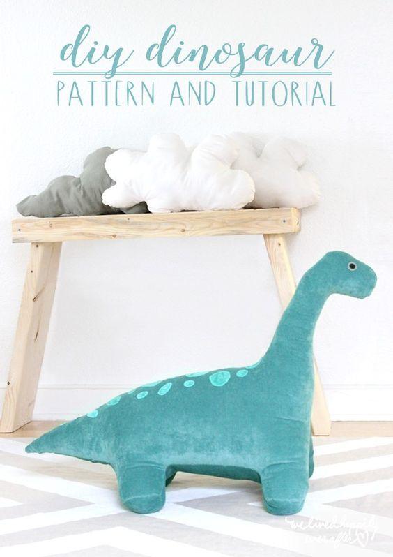 stuffed dinosaur toy diy creative hobbies