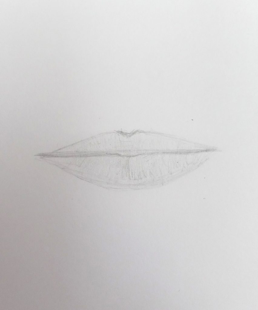 easy lips drawing