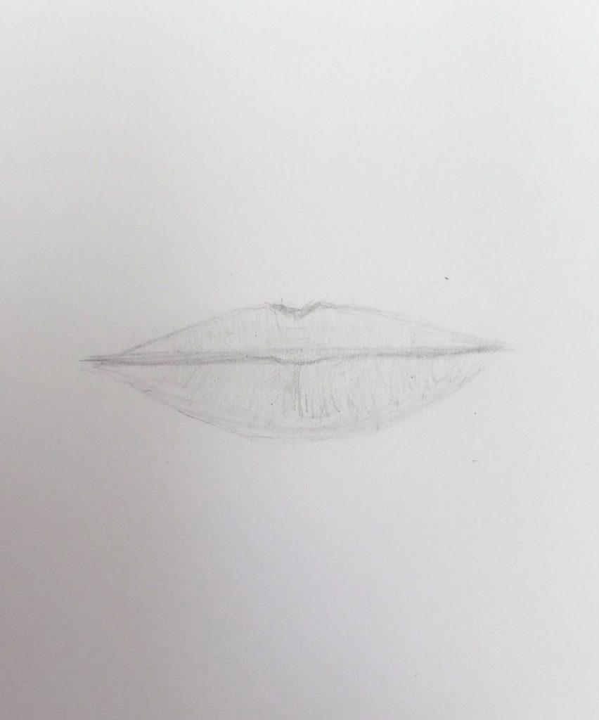 easy lips drawing
