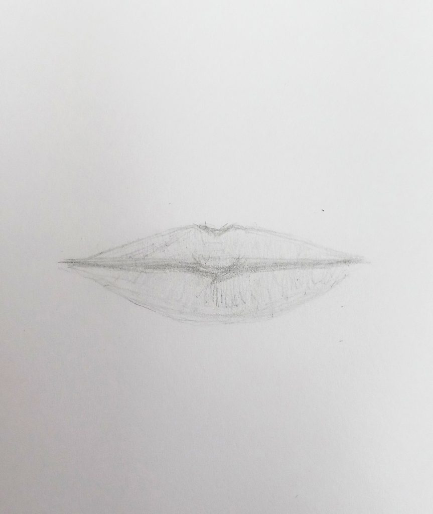 easy lips drawing step by step