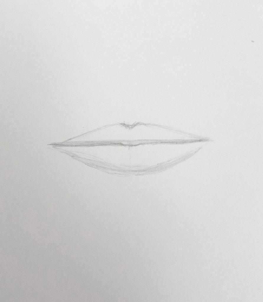 how to draw lips easy