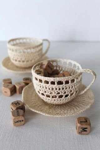 crochet tea cup