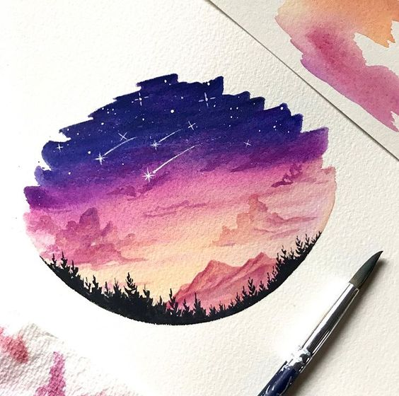easy watercolor painting artbysinch