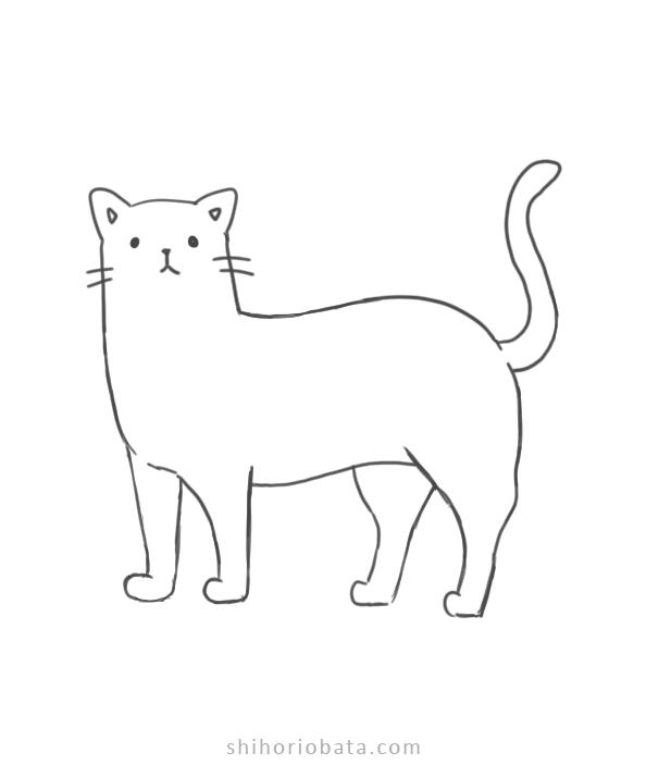 easy cat drawing idea