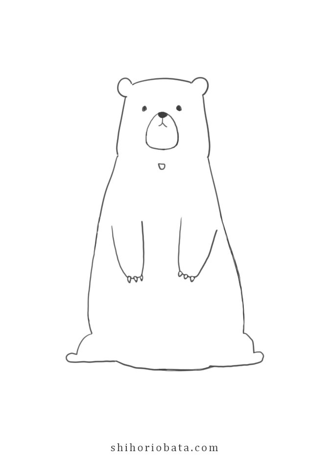 cute easy bear drawing