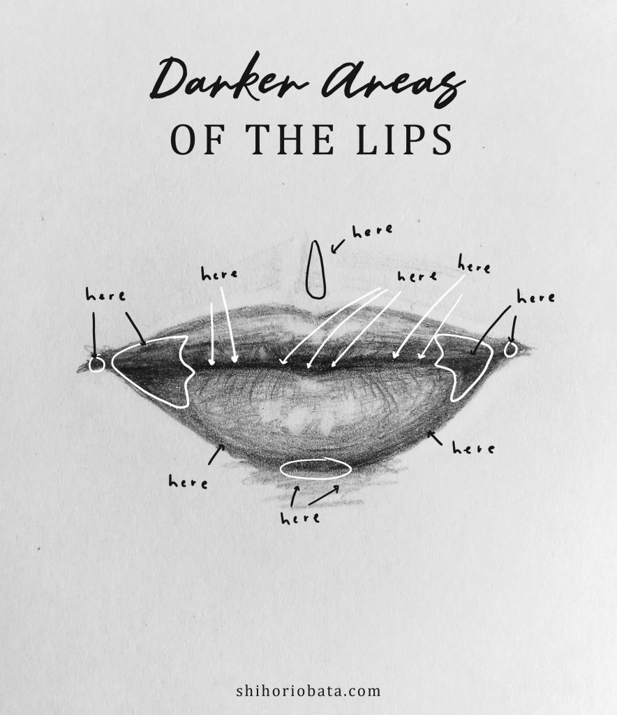 how to sketch realistic lips