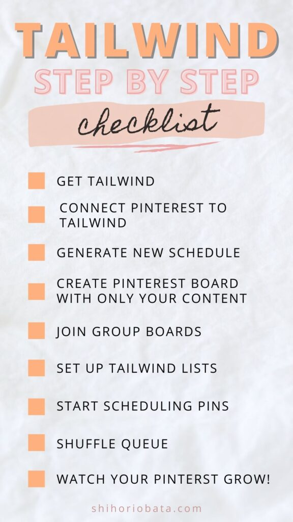 tailwind checklist pinterest