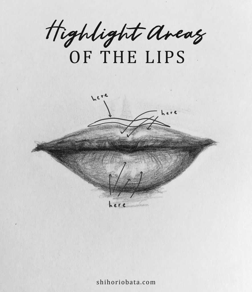 how to shade sketch lips