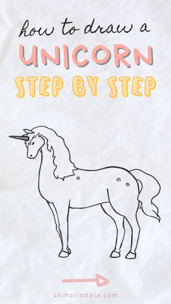 how to draw a unicorn step by step