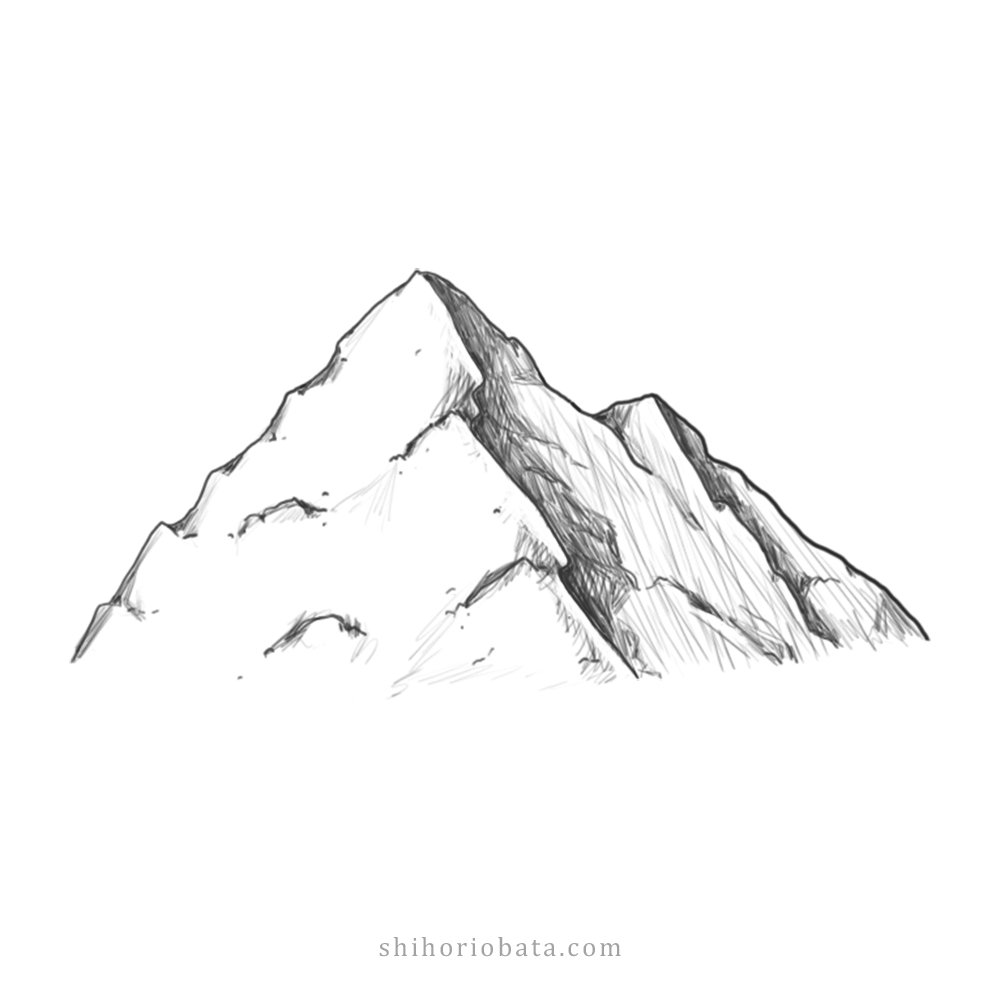 How to Draw Mountains Easy Step by Step Tutorial