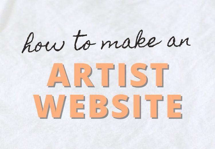 how to make an artist website