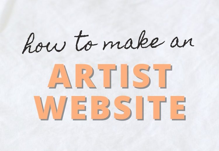 how to make an artist website