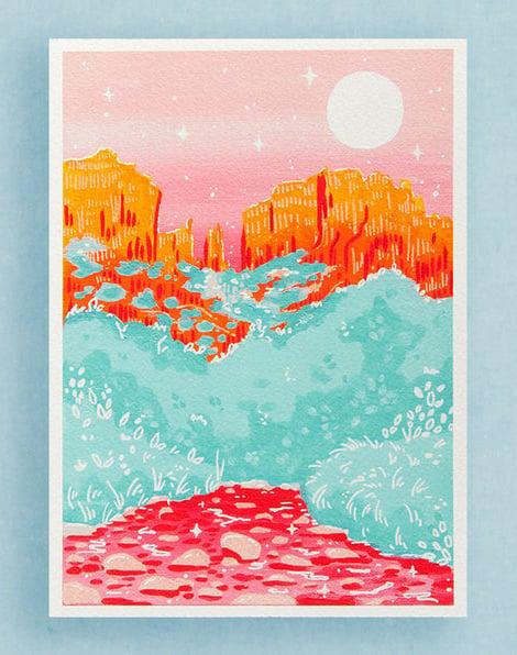 sedona art print illustration etsy