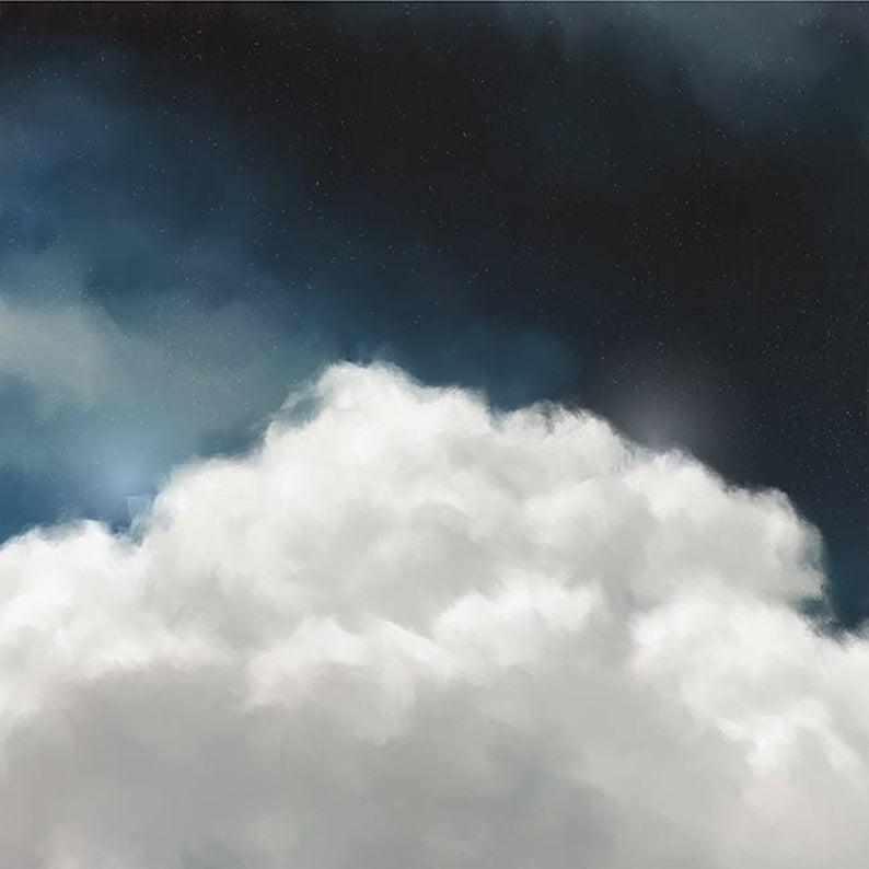 cloud art print etsy