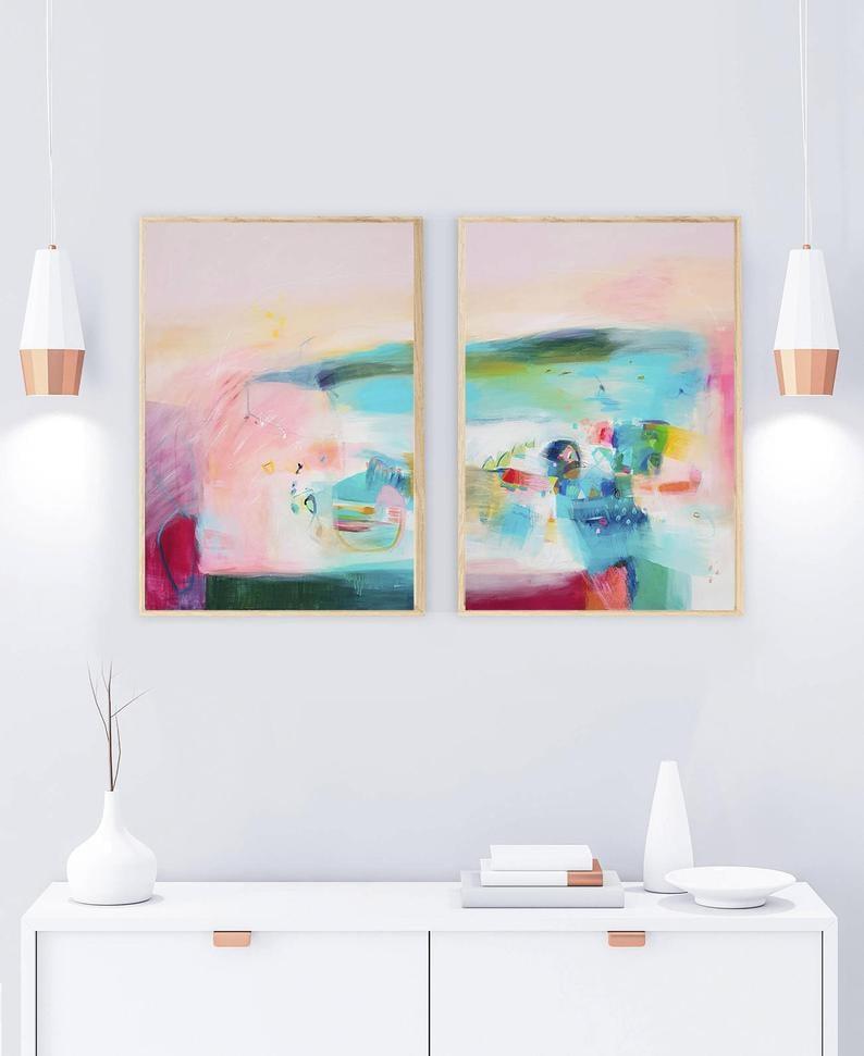 abstract art prints etsy