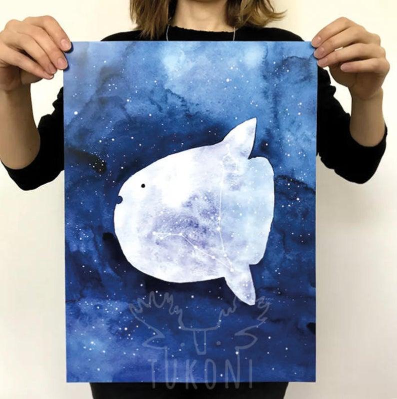 sunfish art print etsy